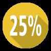 icon 25%